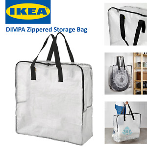 IKEA DIMPA Zippered Storage Bag Clear Reusable Recycleable Heavy Duty Protection