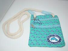 "Dolphin Canvas Ortley Beach New Jersey Hip Bag Crossbody Purse EUC 8"""