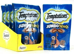 6 Count Temptations 2.47 Oz Jumbo Stuff Savory Salmon Flavor Cat Treats BB 9/21