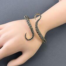 Gold Finish Octopus Tentacle Sea Life Designer Inspired Simple Bangle Bracelet