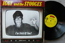 IGGY(POP) & the Stooges. I'm Sick of You ~ vinyl LP (1980) 1st Press~Bomp. NM/EX