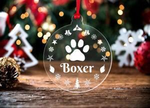 Personalised Christmas Bauble Cat Dog Pet Hanging Xmas Tree Decoration Acrylic