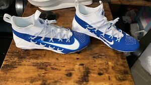 Nike Men's Alpha Huarache 6 Elite Lacrosse Cleats White/Blue Sz 10.5