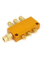 Hydraulic Oil Distributor Valve Manifold Block Adjustable 1-Inlet 3 Outlet✦Kd