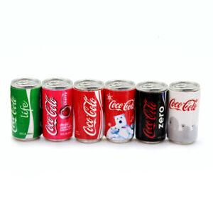 Dollhouse Mixed Flavors Canned Coke 6Pcs Set 1:6 Model Miniature Accessories