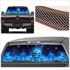 """Cool Car Pickup Rear Window Flaming Skull Tint Graphic Sticker 22""""x 65"""" Large"""