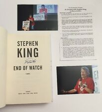 Stephen King Signed End Of Watch Book New From Book Tour Omaha With Photos**