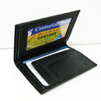 Genuine Leather Men's Bifold Thin Wallet ID Window Credit Cards Cash Holder