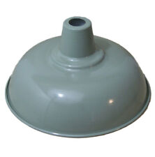 Vintage retro style ceiling pendant light shade french grey 280mm