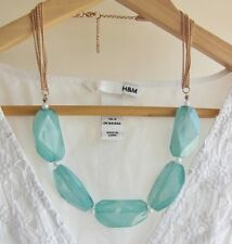 Blue Sky Beaded Statement Necklace Collar Beaded Necklace J Crew Zara Inspired