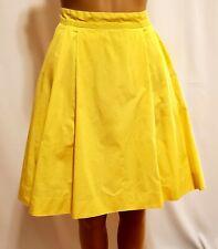 LL Bean Yellow Cotton Skirt Size 4
