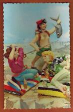 Carte Postale glacée - Plage - Mer - Pêche - Photochrom - (A.75)