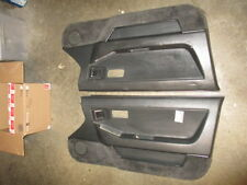 85 86 87 HONDA PRELUDE INTERIOR DOOR PANELS SET PAIR LH RH COUPE SI BLACK 2.0