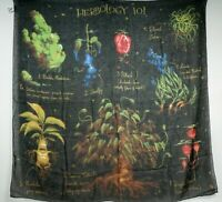 "Harry Potter Herbology 101 Sheer Wall Tapestry 60""x60"" Loot Crate Exclusive New"