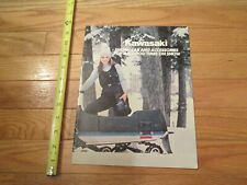 Kawasaki Snowmobile Snowgear & Accessories Vintage Dealer sales brochure