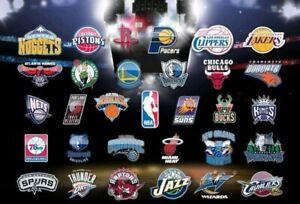 "2020/21 NBA Basketball First Half Schedule Magnets 5"" X 3.5""(Choose From List)"