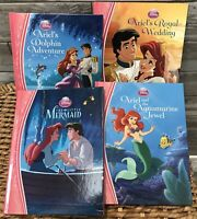 Disney Ariel The Little Mermaid Hardcover Books Lot Of 4