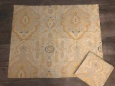 Pottery Barn Gold Gray Medallion Standard Pillow Shams Nwot