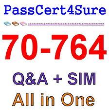 Best Exam Practice Material For 70-764 Exam Q&A+SIM