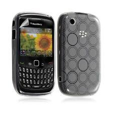 Housse coque étui en gel pour BlackBerry Curve 8520 motif cercle couleur blanc t