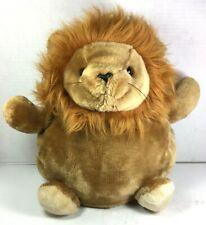 Lion Plush Stuffed Animal with Back Pouch