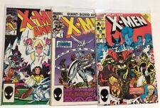 The Uncanny X-Men ANNUAL #8, #9 & #10 (1984-1986 Marvel) VF-NM
