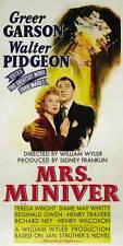 MRS. MINIVER Movie POSTER 20x40 Greer Garson Walter Pidgeon Teresa Wright May