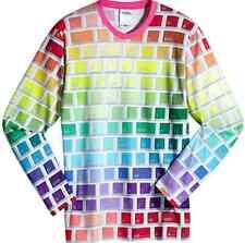SALE! Adidas Originals Jeremy Scott Rainbow Keyboard Tshirt Long Sleeves SLIMFIT