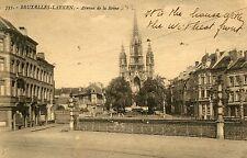 Belgium Bruxelles-Laeken - Avenue de la Reine old sepia postcard