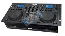 gemini pro dual twin cd mp3 usb dj media player console 2-kanal mixer system
