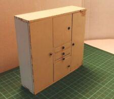 German White painted kitchen unit #B11 : Vintage Dolls house furniture