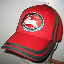 NRL SOUTH SYDNEY RABBITOHS CAP Twin Stripe Adjustable - NEW w/tag.