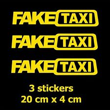 2x FAKE TAXI Car Sticker FakeTaxi Decal Emblem Self Adhesive Vinyl for Car Fine
