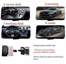 Cars phone case luxury car Inspired leather flip wallet card phone case cover