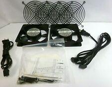 Middle Atlantic AV Cabinet Rack 115VAC Cooling Fans  NMB-MAT 4710PS-12T-B20 Qty2