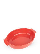 """PEUGEOT - Plat four céramique ovale rouge 31 cm - 10 1/2"""" Appolia"""