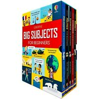Big Subjects For Beginners 5 Books Children Collection Hardback Set By Usborne