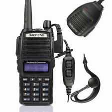 Baofeng UV-82L 136-174/400-520MHz Ham Two-way Radio Walkie Talkie + Speaker US