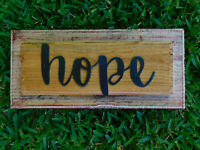 Rustic Wood Sign, HOPE, Country Home, Kitchen, Wooden Wall Art Sign, Wall Decor