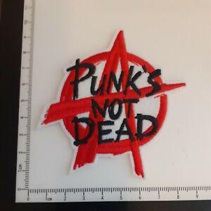 Punk Biker Anarchy Punk's Not Dead Iron On/Heat Transfer Patch - New