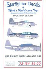 Starfighter Decals 1/72 OPERATION LEADER U.S.S. Ranger North Atlantic 1943