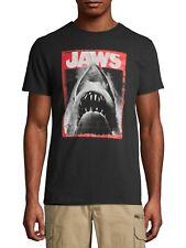 Men's Jaws Black Short Sleeve Graphic T-shirt Small