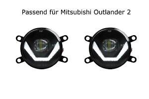 LED Nebelscheinwerfer + Tagfahrlicht Black Cree für Mitsubishi Outlander 2 LSW4