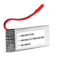 2018 3.7V 1200mAh 25C Lipo Battery for Walkera WKLIPO-5#10 5G4Q3 SYMA S006