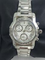 Women's Bulova 96R138 Stainless Steel Diamond Accent Chronograph MOP Dial Watch