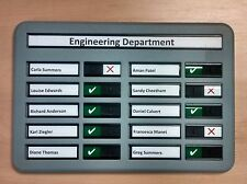 Staff In Out Attendance / Fire Drill Muster Board With Space For 10 Names