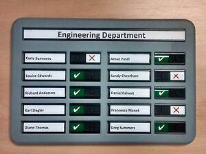 Staff In Out Board + Fire Drill Board + Muster Board - 10 Names