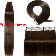 7A Tape In 60PCS Remy Human Hair Extensions Skin Weft Full Head Blonde 150g B823