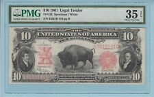 Fr. 122. 1901 $10 Legal Tender Note. PMG Choice Very Fine 35 EPQ BISON