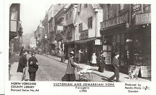 Yorkshire Postcard - Victorian and Edwardian York - Fossgate c1905 - Ref  2111